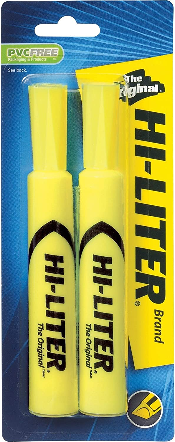 Avery 24081 Highlighter Chisel Point 2 Columbus Mall Fluorescent CD Yellow NEW before selling ☆