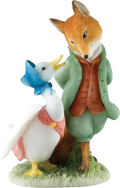 Enesco Beatrix Potter Miniature Figurine Jemima The Foxy Whiskered Gentleman A27676