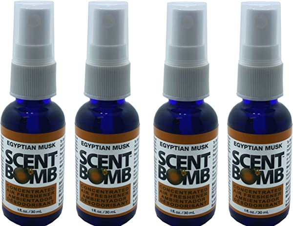 Scent Bomb Super Strong 100 Concentrated Air Freshener 4 PACK Egyptian Musk