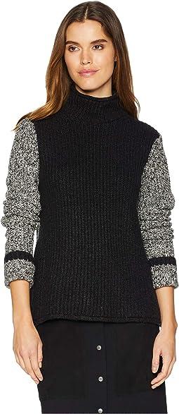 Thomas dean co color block merino crew sweater  1c8510e3b