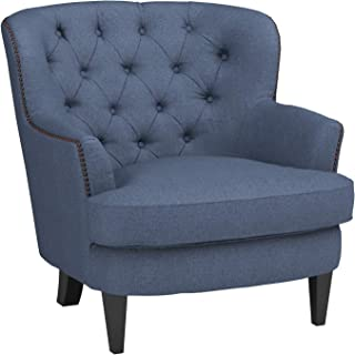 Ravenna Home Semple Button Tufted Accent Chair, 33