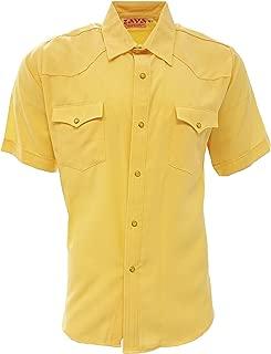 Zava Fashion Men's Cowboy Shirts Camisa Vaquera Western Shirt Short Sleeve Made in USA
