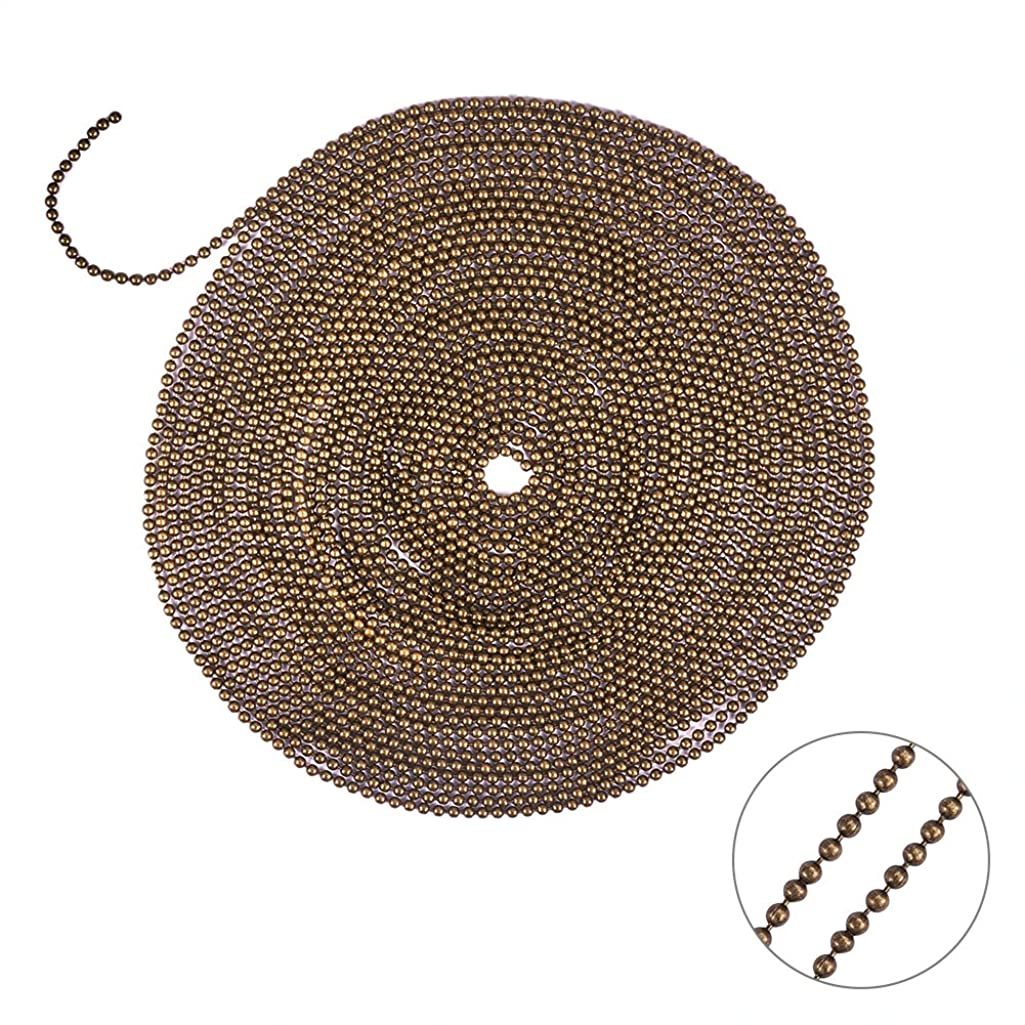 PandaHall Elite 5 Yard Brass Ball Chains Size 1.5mm Round Shape 16 Feet Jewelry Making Chain Gunmetal