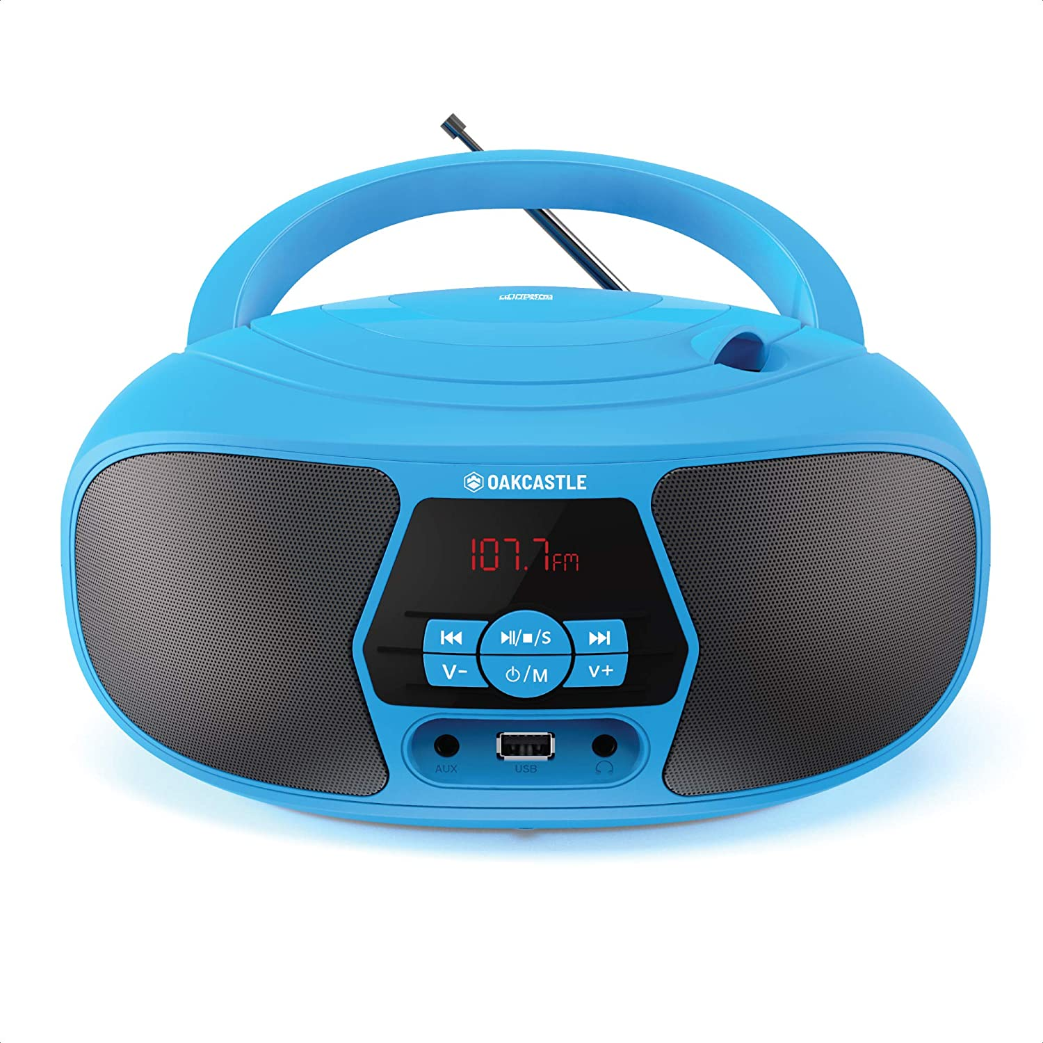 Oakcastle BX200 Inventory cleanup selling sale Boombox Portable CD Radio FM and 2021 model Player Blue