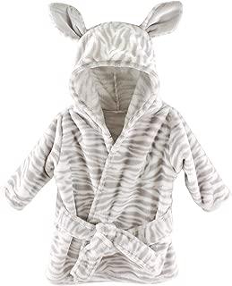 Hudson Baby Unisex Baby Plush Animal Face Robe, Zebra, One Size, 0-9 Months