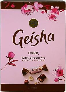 Fazer Geisha Dark Chocolates with Soft Hazelnut Filling Small Box 5.3 Oz (150g)