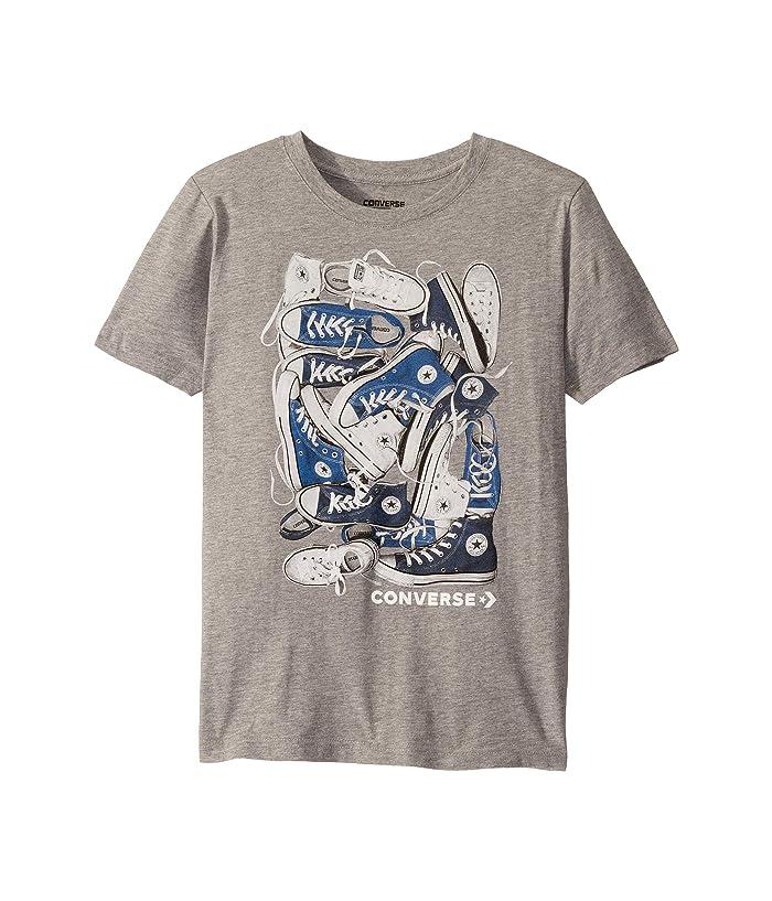 Converse Kids Short Sleeve Photorealistic Chucks Pile Graphic T-Shirt (Big Kids)