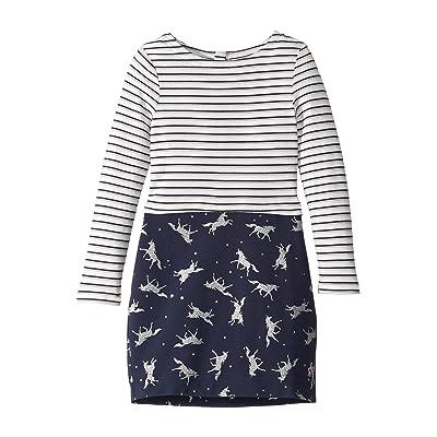 Joules Kids Cocoon Dress (Toddler/Little Kids/Big Kids) (Navy Glitter Unicorn) Girl