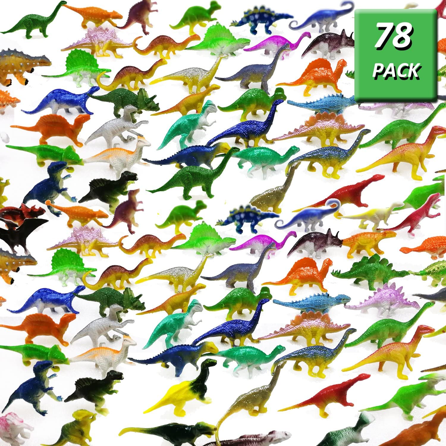 specialty shop Columbus Mall 78 Pack Mini Dinosaur Figure Set for Plastic Toys Toy