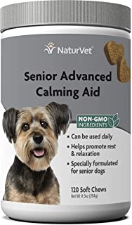 NaturVet – Senior Advanced Calming Aid – Helps Reduce Stress & Promote Relaxation – Great for Storms, Fireworks, Separatio...