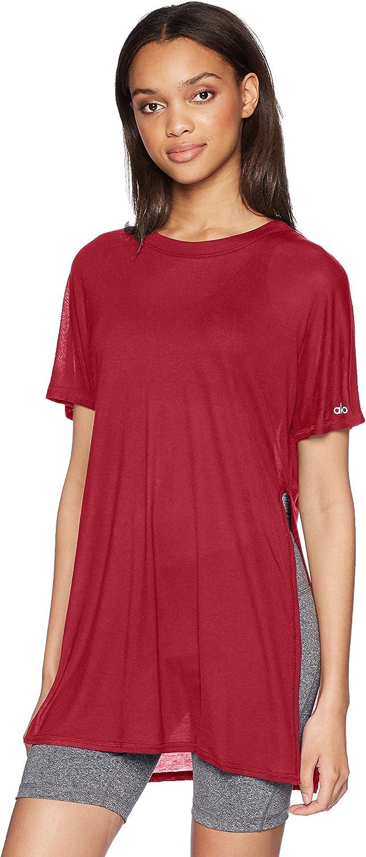 Alo Yoga Damen Dreamer Short Sleeve Top Yoga-T-Shirt