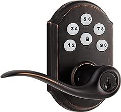 Kwikset 99110-009 SmartCode Electronic Lock with Tustin Lever Featuring SmartKey, Venetian Bronze