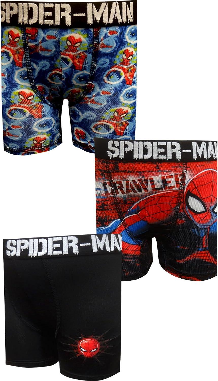 Bioworld Merchandising Boys' Spiderman 3 Pack Performance Boxer Briefs