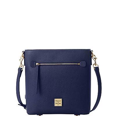 Dooney & Bourke Saffiano Zip Crossbody (Marine) Handbags