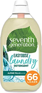 Seventh Generation Laundry Detergent, Ultra Concentrated EasyDose, Alpine Falls, 23 oz, 66 Loads (Packaging...