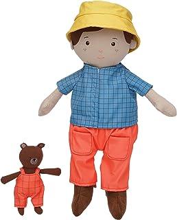 Manhattan Toy Playdate Friends Alex Machine Washable and Dryer Safe 14 Inch Doll with Mini Bear Stuffed Animal