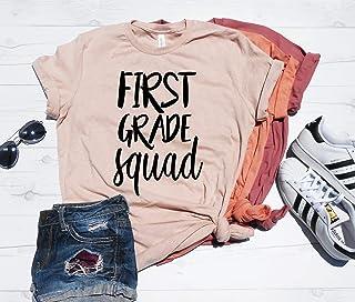 First Grade Squad T-Shirt, Second Grade, Third Grade, Elementary School Teacher, Gift Idea for Teacher, First Grade Teacher Shirt
