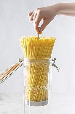 Kilner Facetted Spaghetti Jar with Spaghetti Insert, 2.2L, Transparent 01775