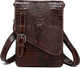 crocodile leather messenger bag