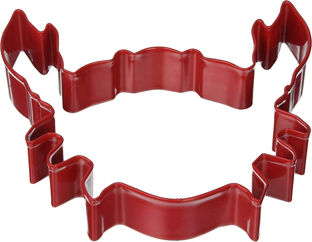 R M Polyresin Coated Crab Cookie Cutter 5 Inch Red