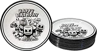 """Party_Planner DJ Mask Marshmellow Birthday Party Supplies Party Decoration (Cake Plates 7"""" 25 count)"""