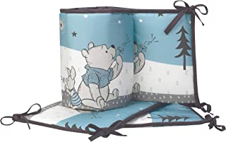 Lambs & Ivy Forever Pooh 4Piece Baby Crib Bumper, Blue
