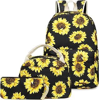 Pawsky Canvas School backpack Set Lightweight Teen Girls Women Kids School Bags College Bookbag Fits 14 Inch Laptop Bag
