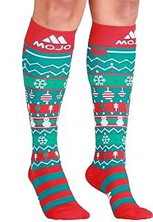 Christmas Mojo Compression Socks – Graduated Compression Stockings - Firm Support 20-30mmHg - Mojo Compression XL