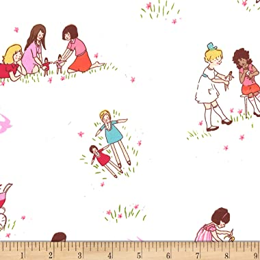 Michael Miller Best of Sarah Jane Flannel Dolls Fabric, Multicolor, Fabric By The Yard