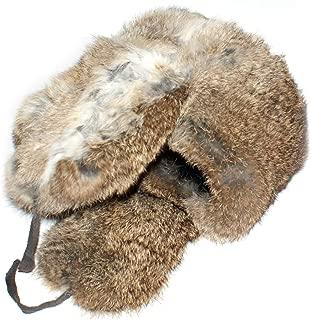 Winter Hat Russian Rabbit Fur Ushanka Brown