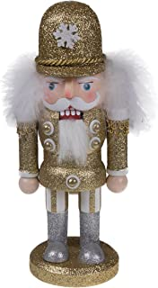 Clever Creations Traditional Chubby Style Officer Nutcracker Glitter Uniform | Collectible Wooden Christmas Nutcracker | Festive Holiday Décor | Ornate | 100% Wood | 10