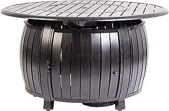 Fire Sense 61832 Grand Cooper Aluminum Round LPG Fire Pit, Multicolor