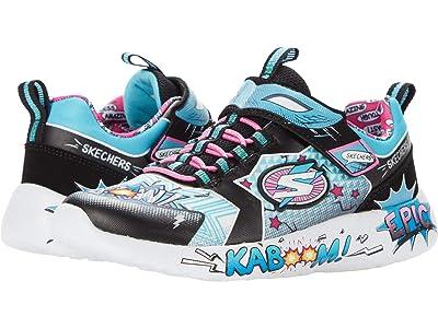 SKECHERS KIDS Sport Dynamight Hero Status 302204L (Little Kid/Big Kid) (Black/Turquoise) Girl