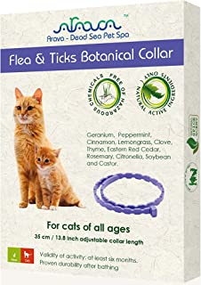 Arava Dead Sea Pet Spa - Flea and Tick Botanical Collar for Cats - Natural Active Ingredients - Free of Hazardous Chemical...