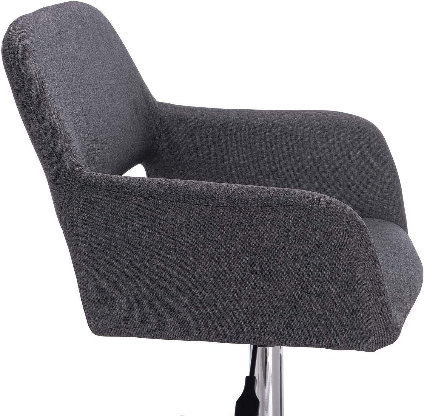 DGHJK Dossier en Tissu Chaise d'ordinateur Chaise de Bureau Tabouret de Bureau pivotant avec accoudoir en Lin réglable en Hauteur, Vert Blue
