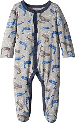 Whale Long Sleeve Footed Sleeper (Infant)