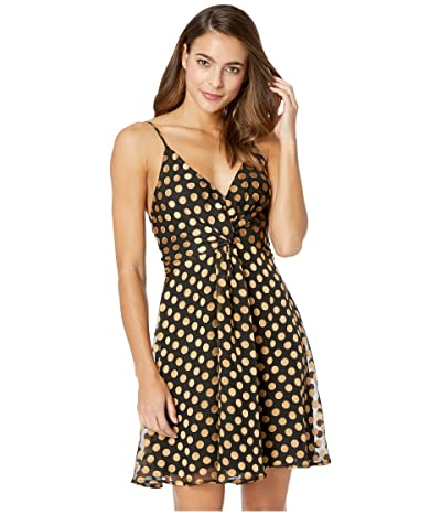 ASTR the Label Kelsey Dress (Black/Gold Dot) Women