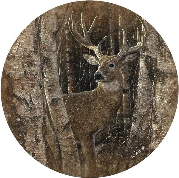 Thirstystone Stoneware Coaster Set Birchwood Buck