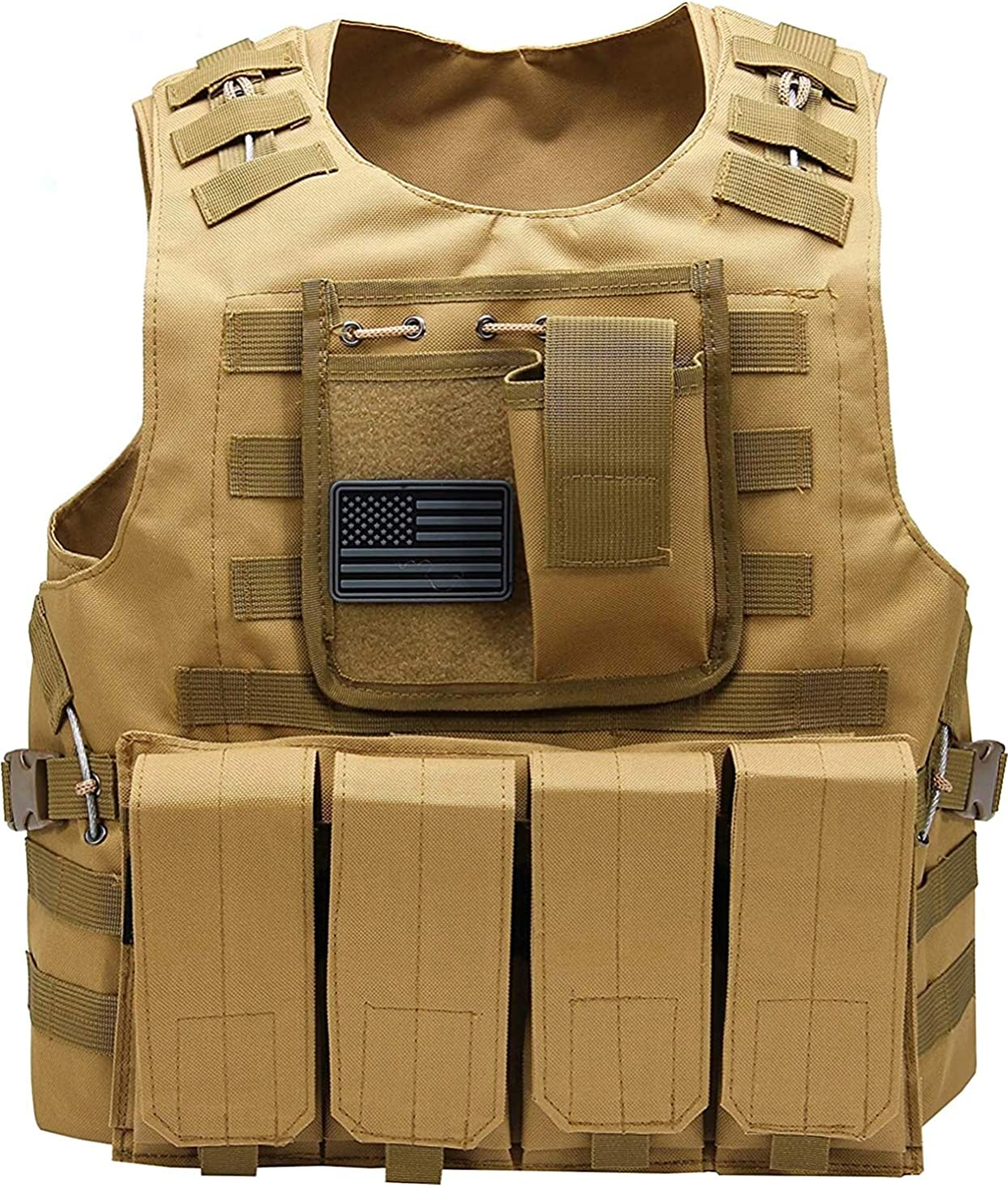 Airsoft Tactical Vest w US Flag Sale item 2021 autumn and winter new Patch Mag Molle and PALS Pouc 4