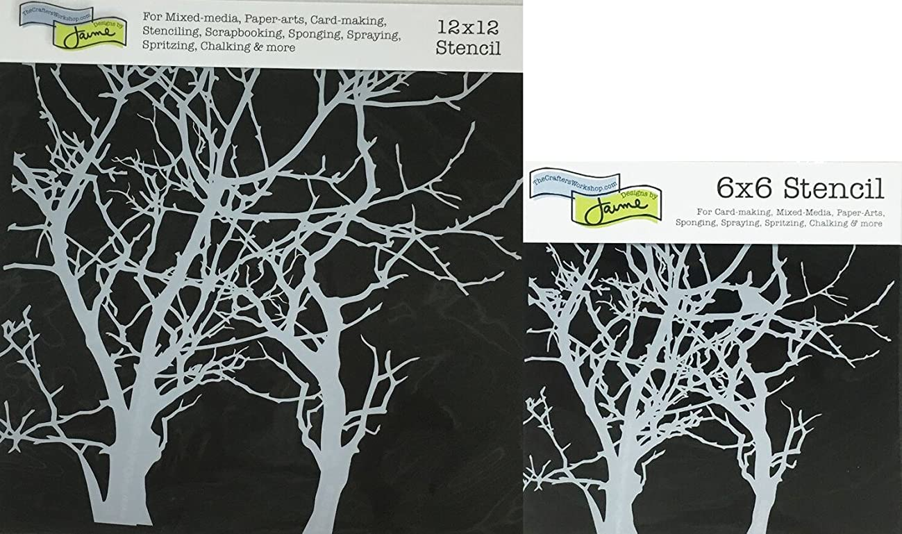 The Crafter's Workshop Set of 2 Stencils - Branches 12