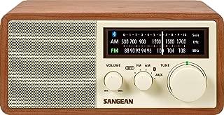 Sangean WR-16 AM/FM/Bluetooth Wooden Cabinet Radio with USB Phone Charging