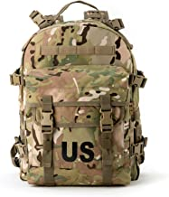 Akmax.cn US Military Molle II 3 Day Assault Pack Army Tactical Backpack for Camping Hunting Hiking Multicam