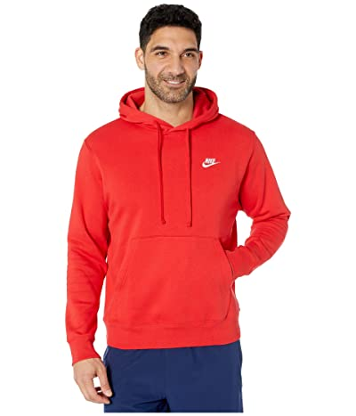Nike NSW Club Hoodie Pullover (University Red/University Red/White) Men