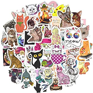 Waterproof Cat Vinyl Stickers Bomb Laptop Water Bottle Folders Toys for Kids(50Pcs/Pack)