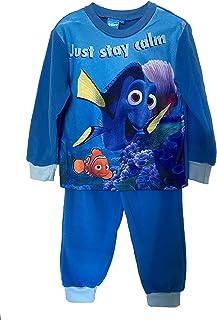 Disney Finding Dory Juego de pijamas, azul mangas completas, ropa de dormir para niños, ropa de estar para niños.