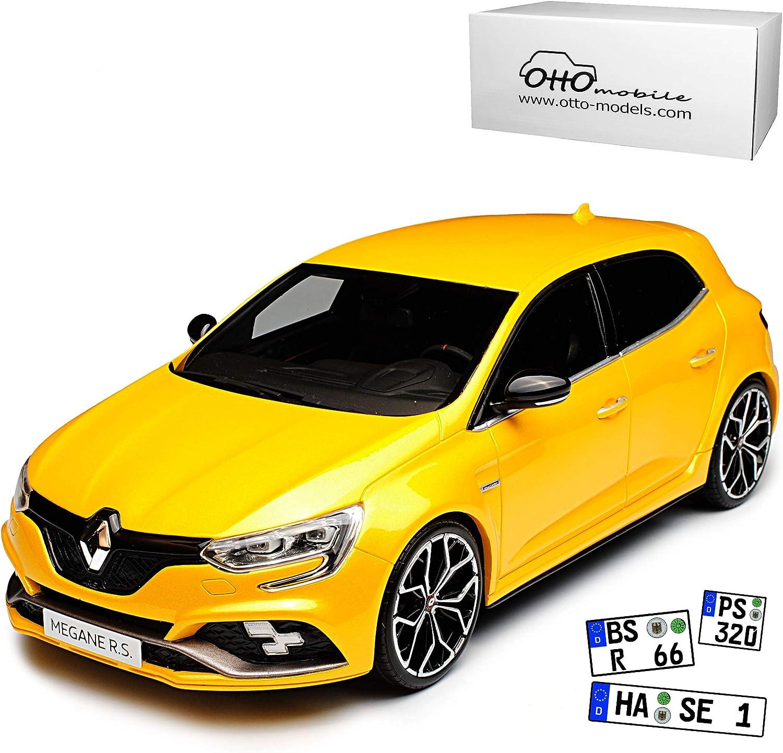 Renault Megane RS IV Sirius Gelb 5 Türer Ab 2017 4. Generation Ab 2015 1 18 Otto Modell Auto mit individiuellem Wunschkennzeichen