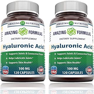 Amazing Formulas Hyaluronic Acid 100 mg Capsules (Non-GMO,Gluten Free) - Support Healthy Connective Tissue and Joints - Pr...