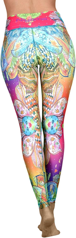 Niyama Barcelona Leggings High Waist  colorful Artistic Yoga Pants for Women.