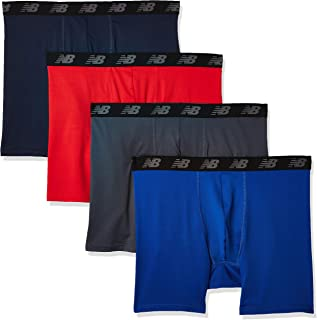 """New Balance Men's Nb3017-4 Performance 5"""" No Fly Boxer Briefs 4-Pack"""