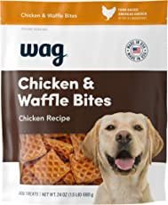 Amazon Brand - Wag Treats, Chicken and Waffle Bites